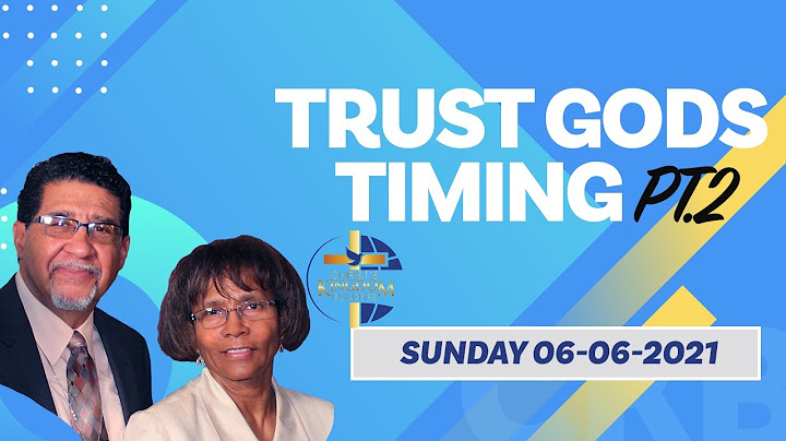 Trust Gods Timing Pt. 2 | Apostle Ron Venters | 06-06-2021